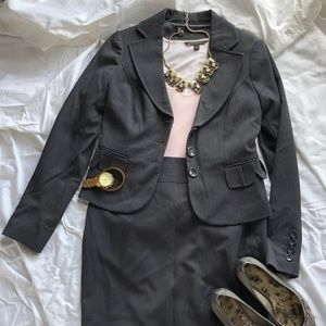 Like New The Limited Dark Grey Skirt Suit
